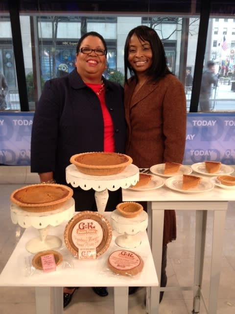 Gay Wheeler-Smith and Kecia Palmer-Cousins will be serving their sweet potato pies to VIPs at the Super Bowl.