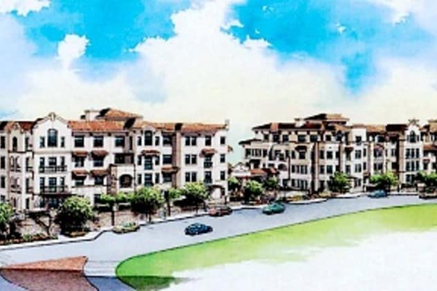 An artist's rendering of the proposed Kensington Road project in Bronxville.