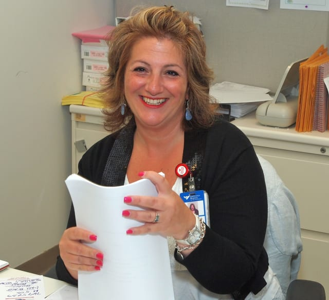 Unit secrerary Enza Pisano is the January quality award winner for extraordinary service at Greenwich Hospital.