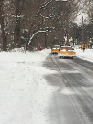 Private plowing companies were out enforce this morning across Fairfield.