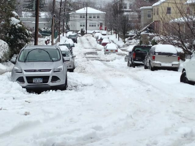 Some side streets in Westchester County continued to be a problem on Wednesday afternoon.