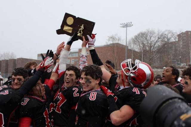A dozen members of the state champion New Canaan High football team will play in college.