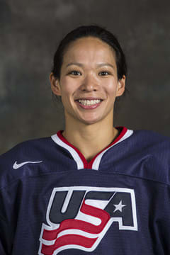 Fairfield's Julie Chu netted an assist for Team USA in a 9-0 win over Switzerland on Monday.