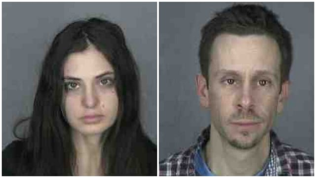 Michael Moriarity, 39, and Shari Harris, 26, are both charged with third-degree criminal possession of a controlled substance, a felony.