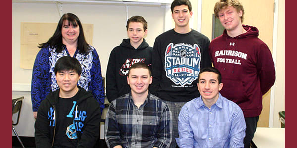 "Students from Harrison High School were named ""Best in State"" in a recent app development competition."