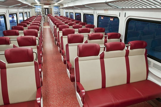 50 of the new M8 rail cars will be equipped with bike racks as part of a test program.