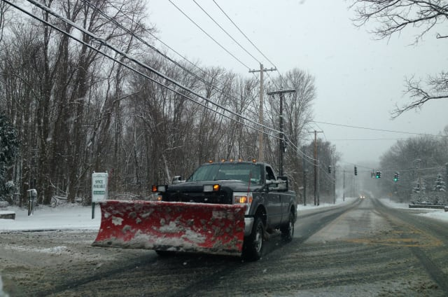 Parking on New Castle streets or highways is prohibited Thursday into Friday morning to allow plows to clear roads.