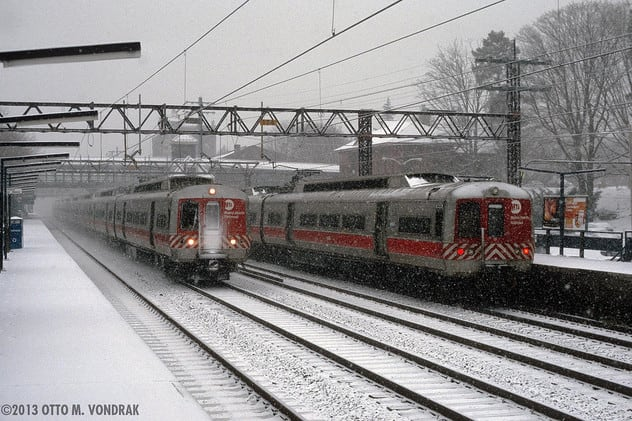 Preparations are underway along Metro-North's New Haven Line Wednesday as a snowstorm approaches.