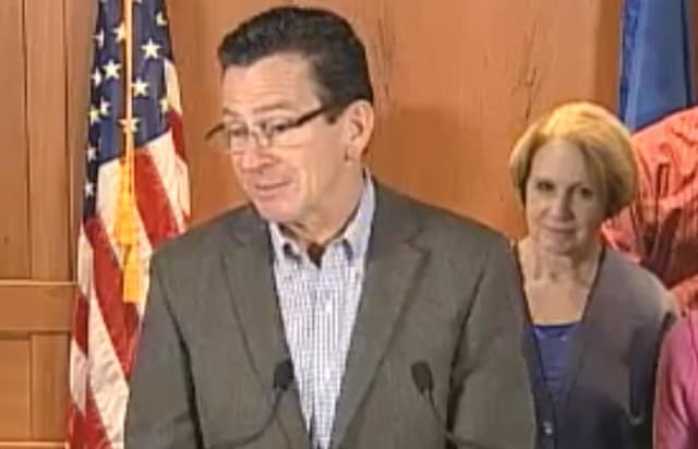 Gov. Dannel Malloy updates conditions in Connecticut on Thursday morning.