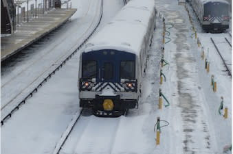 Metro-North is reducing train service as of 4 p.m. Thursday due to the snow.