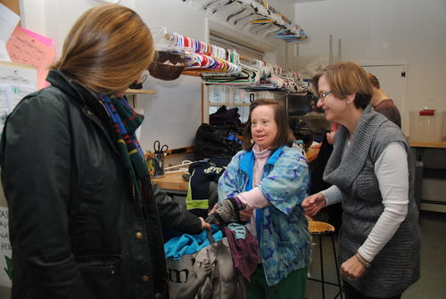 Volunteers from The ARC of Westchester offer a helping hand to the Community Center of Northern Westchester.