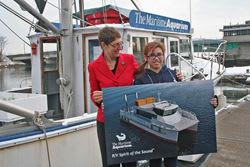 Brien McMahon High School sophomore Kiara Valazquez recently won the contest for naming the Maritime Aquarium at Norwalk's new vessel.