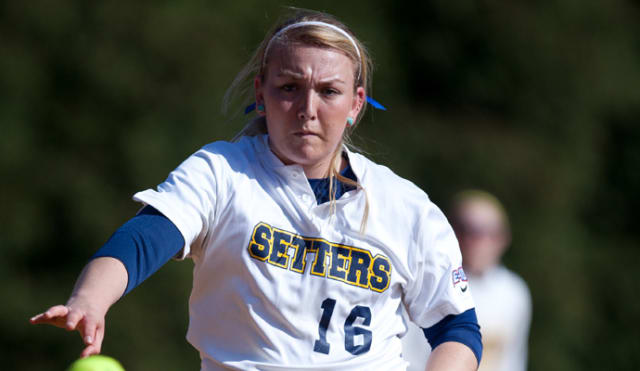 Junior Caitlin McCann pitched the season opener and assisted Pace softball with the win by striking out three.