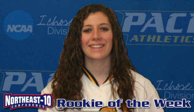 Pace University softball freshman Nikole Larm has been named the Rookie of the Week by the Northeast-10 Conference.