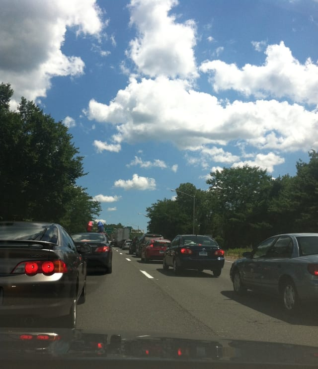 A recent report says Fairfield County drivers spent an average of 42 in traffic in 2013.