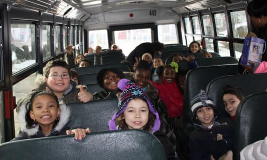 "Mount Vernon students were on a field trip to ""The Rachel Ray Show."""