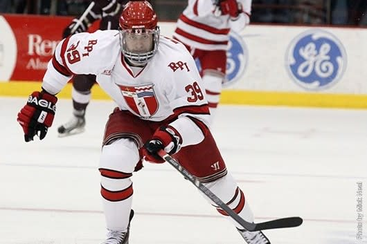 Stamford native Ryan Haggerty signed a free agent contract Wednesday with the New York Rangers hockey team. Haggerty will forego his final college season at RPI.