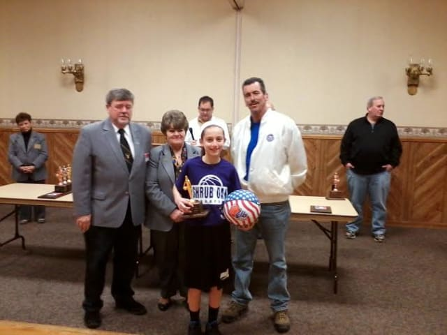 Three Yorktown kids made the state finals for the Elks National Hoop Shoot in Syracuse. Kristen Cinquina, pictured, won the state title in her age group.