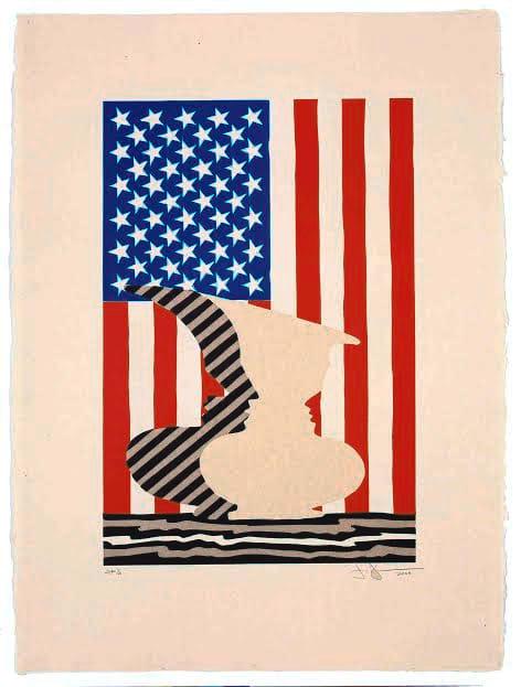 """Jasper Johns & John Lund: Masters in the Print Studio"" is the new exhibit at The Katonah Museum of Art."