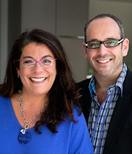 Robin and Jeffrey Selden of Marcia Selden Catering and Event Planning in Stamford.