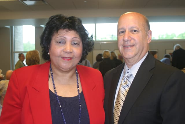 Mae Carpenter, commissioner of the Westchester County Department of Senior Programs and Services, and Rob Waldman, president of the Center for Aging in Place Support.