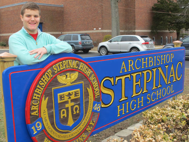 Eric Terminello, Stepinac High School senior and White Plains resident, was appointed in the U.S. Naval Academy.