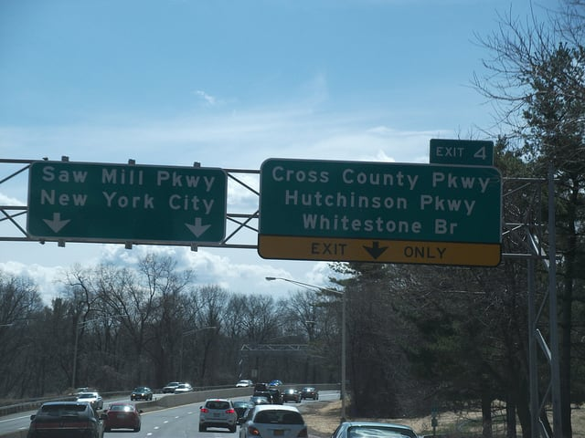 A New Jersey woman was pronounced dead following an accident on the Saw Mill River Parkway.