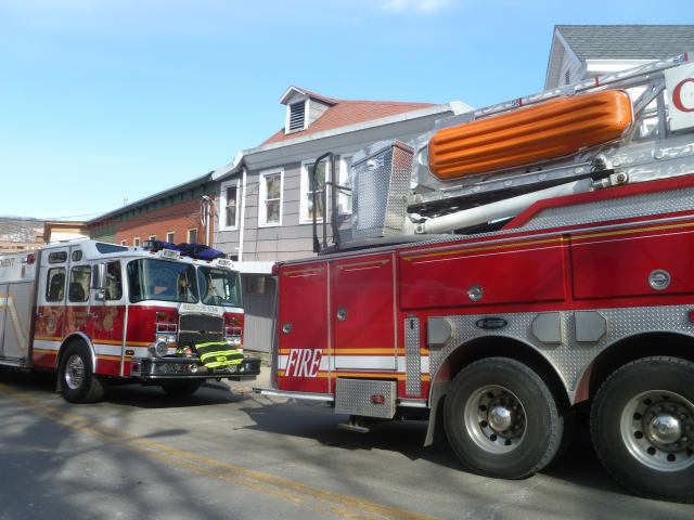 The Peekskill Fire Department battled a fire at Central Market on Saturday.