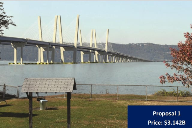 Construction resumed on the new Tappan Zee Bridge on Monday, March 31.