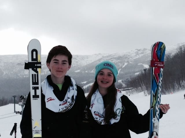 Mackenzie Laurion and Jack Shea competed in the Eastern Regional Alpine competition recently.