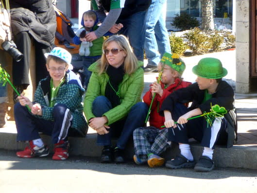 Darien earned seventh place in a new list of the 10 Best Places To Live in Connecticut. Betsy Roberts gets ready to watch Stamford's 2013 St. Patrick's Day Parade with kids Ryan, 8, Sean, 5, and Ted, 11.
