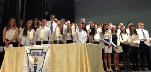 Several students from Ardsley were recently inducted into the National Honors Society.