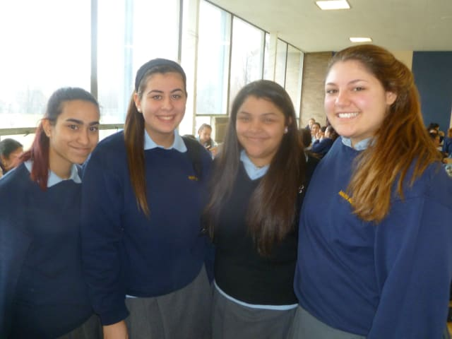 Students at Maria Regina High School in Hartsdale talked about childhood obesity and how to address it.