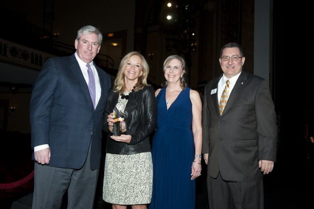 Pictured, from left, are Robert Hart, Board President; Margaret Carlson, Honoree; Karyn Ward, Event Co-chairperson; and Michael Cotela, Executive Director