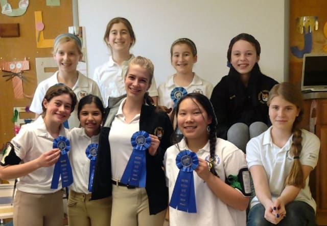 Members of the Fairfield County Hound Pony Club took home first and third place ribbons in their first un-mounted rally of the season.