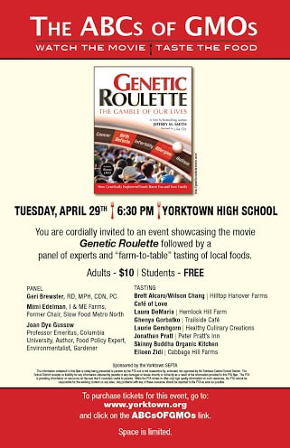 """The Yorktown School District and SEPTA will be hosting its third annual wellness event, """"The ABCs of GMOs."""""""