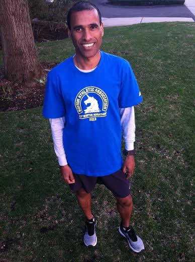Stamford's Gavaskar Manayath, 43, will compete in Monday's Boston Marathon despite last year's deadly bombing.
