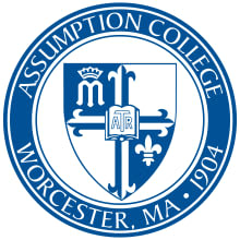Assumption College recently presented Justine DiDonato of Eastchester with the departmental award for international business.