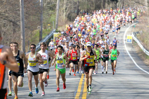 More than 36,000 people are expected to run in the Boston Marathon. Last year, a terrorist attack at the marathon killed three people.