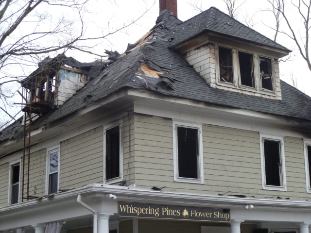 Whispering Pines of Chappaqua, along with the apartments on the second floor and attic, were destroyed by a fire April 11.