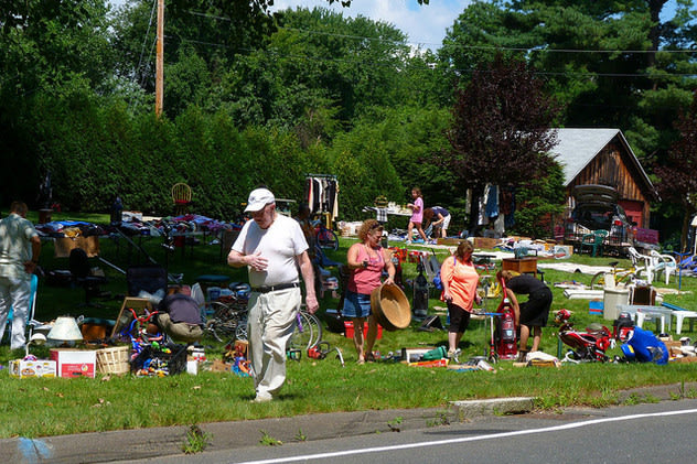 Treasure seekers will have nearly 50 destinations to hit during the  villagewide tag sale in Hastings-on-Hudson on Saturday, April 26.