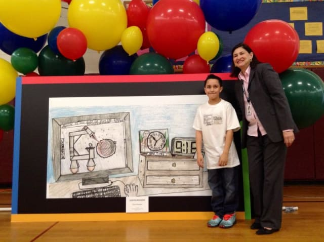 Stamford Public Schools third-grader Jason Rosado was named the state's Doodle 4 Google 2014 winner.
