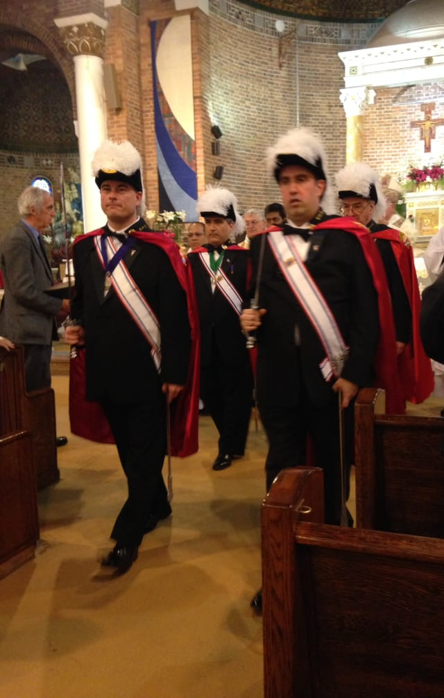 Members of Knights of Columbus  in Norwalk traveled to Brooklyn on Sunday, April 28, to visit Our Lady of Solace parish on Coney Island.