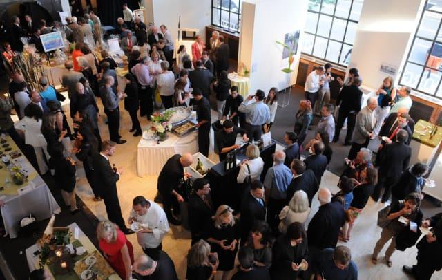 Guests enjoy ArtsBash last year at ArtsWestchester in White Plains.