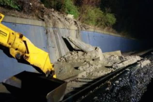 The Mudslide near the Glenwood train station will create schedule changes for Metro-North commuters.