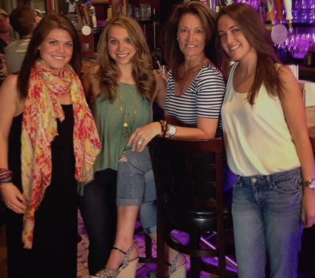 Sarah Moore, second from left, poses with her co-workers after going to Happy Hour in Bronxville to celebrate Cinco de Mayo.