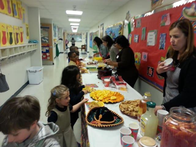 Kindergarten students at the Chapel School celebrated Cinco de Mayo on Monday, May 5.