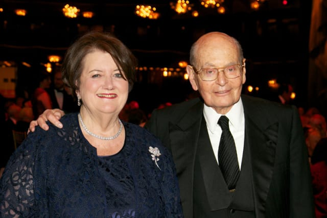 Sarah Billinghurst and Howard Solomon were honored at a Metropolitan Opera gala on April 27.