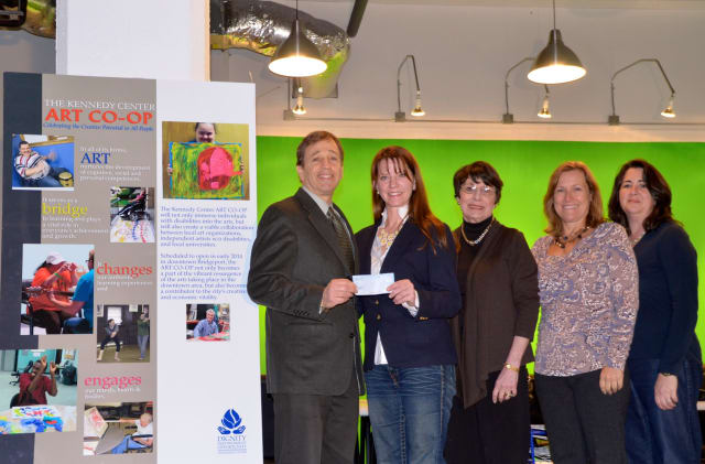 From left are Martin D. Schwartz, CEO and President of the Kennedy Center; Moira Rachel, Fairfield Christmas Tree Festival President; and 2013 FCTF Chairpeople Dottie Kellersman, Laurie Zollinger and Kathy Flynn.