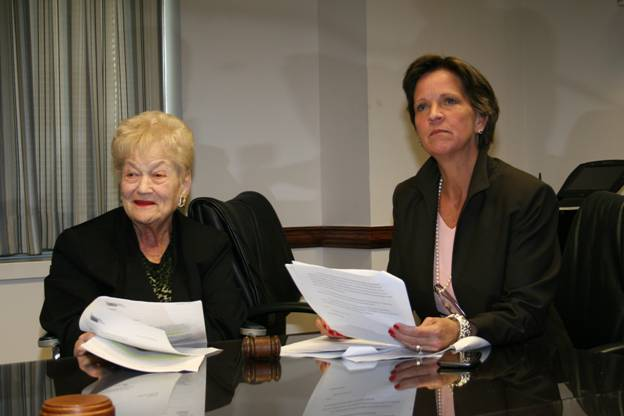 Westchester Legislators have approved several agreements to provide nearly $5.7 million to Westchester County seniors. Pictured are legislators Bernice Spreckman, left, and Sheila Marcotte.